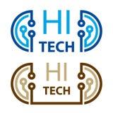 Символ радиотехнической схемы высокой технологии Стоковые Фото