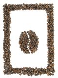 символ рамки кофе Стоковая Фотография