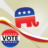 символ республиканца партии Стоковое Изображение