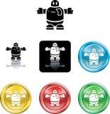 символ робота иконы Стоковое Изображение