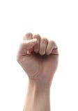 символ руки кулачка Стоковые Фото