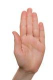 символ руки Стоковая Фотография RF