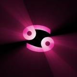 символ света пирофакела рака астрологии Стоковое Изображение