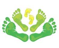 Символ семьи - печати ноги Стоковые Фото