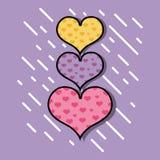 Символ сердец дизайна влюбленности и страсти иллюстрация вектора