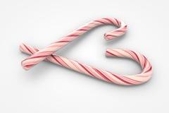 Символ сердца тросточек конфеты рождества Стоковое фото RF