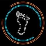 Символ следа ноги, иллюстрация печати ноги вектора - знак печати ноги человека бесплатная иллюстрация