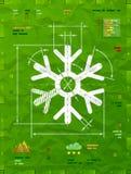 Символ снежинки как техническая светокопия чертежа Стоковое фото RF