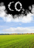 символ СО2 Стоковое Изображение RF