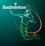 Символ спорта бадминтона Стоковая Фотография