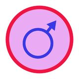 Символ справедливости eqgender рода, символ iconuity, значок Стоковые Изображения