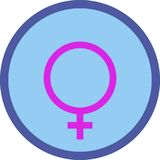 Символ справедливости eqgender рода, символ iconuity, значок Стоковое Фото