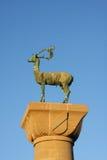 символ статуи rhodes оленей Стоковая Фотография