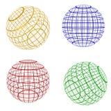 символ сферы планеты цвета Стоковое фото RF