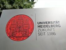 Символ университета Гейдельберга стоковое фото