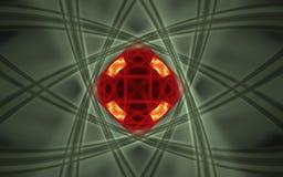 Символ фонового изображения научный в форме красной геометрической диаграммы состоя из линий красного цвета с пересекать выравнив бесплатная иллюстрация