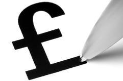 символ фунта стерлинга Стоковое Изображение