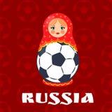 Символ футбола России изолированный на красном фоне иллюстрация штока