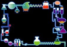 символ химии безшовный Стоковые Изображения
