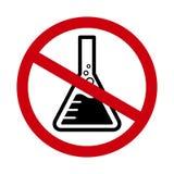 Символ химикатов свободный, безопасность предупредительного знака химикатов опасности химическая, значок ртути свободный в красно иллюстрация вектора