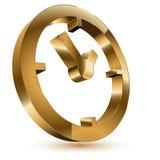 символ часов золотистый Иллюстрация штока