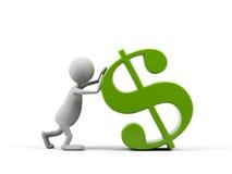 символ человека доллара шаржа 3d бесплатная иллюстрация
