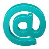 Символ электронной почты бирюзы стоковое изображение