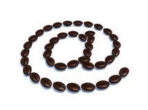 символ электронной почты кофе фасолей Стоковые Изображения RF
