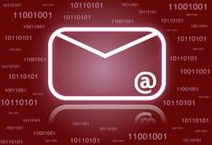 символ электронной почты предпосылки Стоковые Изображения RF