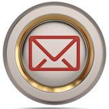 Символ электронной почты 3d изолированный на белой предпосылке иллюстрация 3d иллюстрация вектора