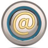 Символ электронной почты 3d изолированный на белой предпосылке иллюстрация 3d бесплатная иллюстрация