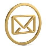 Символ электронной почты 3d изолированный на белой предпосылке иллюстрация 3d иллюстрация штока