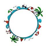 Символ эскиза лета Doodle Стоковые Фото