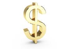 символ доллара золотистый Стоковое Изображение RF