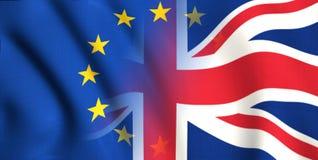 Символ brexit Британии и Европы иллюстрация штока