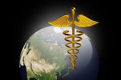 символ caduceus медицинский Стоковое фото RF
