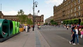 Символ CDMX в историческом центре Мехико акции видеоматериалы