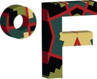 символ 3d Farenheit Иллюстрация вектора