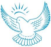 Символ dove вектора Стоковые Изображения