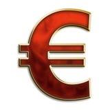 символ eu пламенистый красный Стоковая Фотография RF