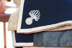 Символ Grenadier на одеждах Стоковые Фото