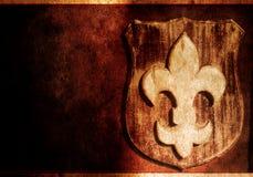символ lis grunge de fleur флористический Стоковые Изображения