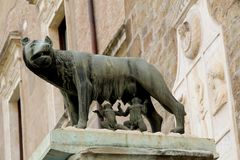 символ romulus rome remus Италии стоковая фотография rf