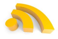 символ rss 3d Стоковая Фотография RF