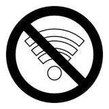 Символ Wi Fi запрета иллюстрация вектора