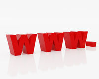символ www интернета Стоковая Фотография RF
