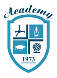 Символ академии с наукой Стоковое фото RF