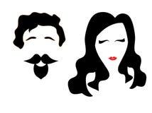 Символ дамы и джентльмена Стоковые Изображения