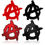 Символ анархии Стоковое Изображение RF