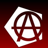 Символ анархии Стоковая Фотография